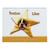 Boston terrier calendar Wall Calendars