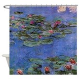 Red Waterlilies by Monet Shower Curtain