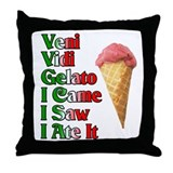 Veni Vidi Gelato Throw Pillow