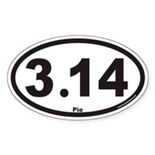 3.14 Euro Oval Bumper Stickers