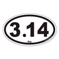 3.14 Euro Oval Stickers