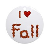 Love Fall Ornament (Round)