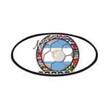 Argentina Flag World Cup Soccer Ball with World Fl