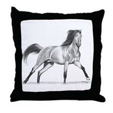 Buckskin Horse Throw Pillow