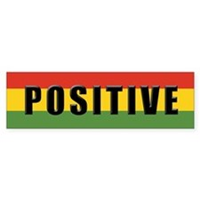 Rasta Gear Shop Positive Bumper Car Sticker