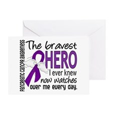 Bravest Hero I Knew Pancreatic Cancer Greeting Car