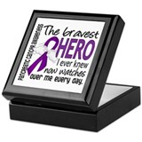 Bravest Hero I Knew Pancreatic Cancer Keepsake Box