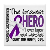 Bravest Hero I Knew Pancreatic Cancer Tile Coaster