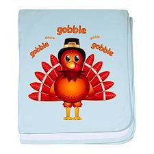 Gobble Gobble Turkey baby blanket