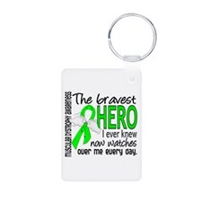 Bravest Hero I Knew Muscular Dystrophy Keychains