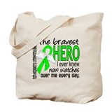 Bravest Hero I Knew Non-Hodgkin's Lymphoma Tote Ba