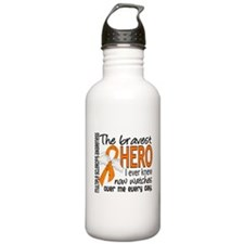 Bravest Hero I Knew Multiple Sclerosis Water Bottle
