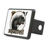 Squirrel and dogs Rectangular Hitch Cover