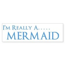 Cute Mermaid Bumper Sticker