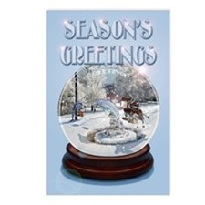 Season's Greetings Postcards 8 PK