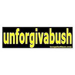 unforgivabush Bumper Sticker