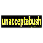 unacceptabush Bumper Sticker