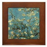 Almond Branches by Van Gogh Framed Tile