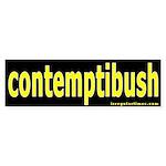 contemptibush Bumper Sticker
