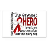 Bravest Hero I Knew Heart Disease Decal