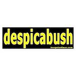 despicabush Bumper Sticker