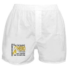Bravest Hero I Knew Childhood Cancer Boxer Shorts