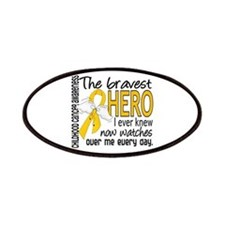 Bravest Hero I Knew Childhood Cancer Patches