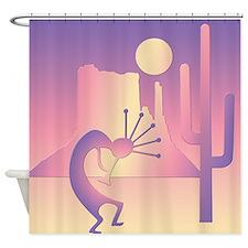 Kokopelli Desert Abstract #11 Shower Curtain