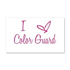 I Love Color Guard in Strawberry Pink Text Car Mag