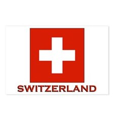 Switzerland Flag Merchandise Postcards (Package of