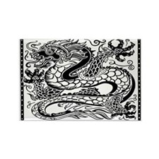 Unique Asian dragon Rectangle Magnet