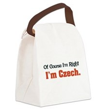 Im Czech Canvas Lunch Bag
