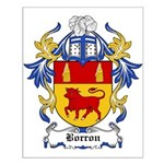 Borron Coat of Arms Small Poster