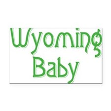 wyoming baby green Rectangle Car Magnet