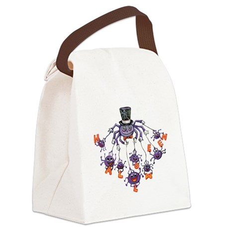 halloween spider Canvas Lunch Bag