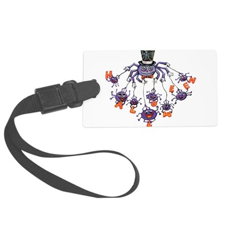 halloween spider Large Luggage Tag