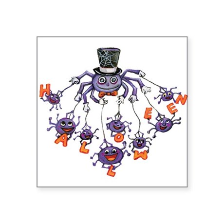 "halloween spider Square Sticker 3"" x 3"""