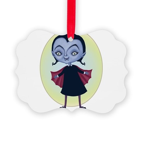 little vampira Picture Ornament
