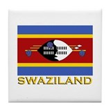 Swaziland Flag Gear Tile Coaster