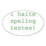 Testes Oval Sticker