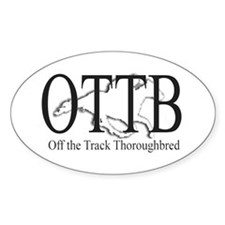 OTTB Oval Decal