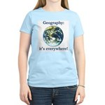 Geography Women's Pink T-Shirt