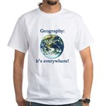 Geography White T-Shirt
