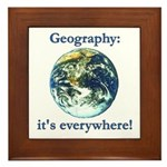 Geography Framed Tile