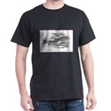Trout Fish (Front) Black T-Shirt
