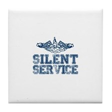 Silent Service with Submarine Dolphins Tile Coaste