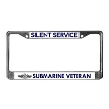 Silent Service (with Dolphins) License Plate Frame