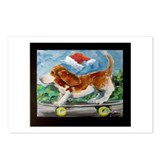 Santa Basset Postcards (Package of 8)