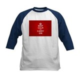 Red Keep Calm And Carry On Tee