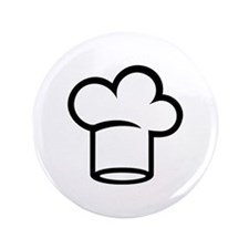 "Chef hat cook 3.5"" Button (100 pack)"